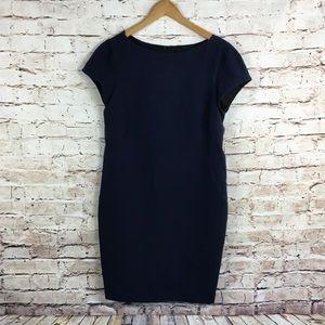 Zara Navy Blue Cap Sleeve Shift Dress